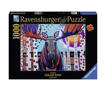 Ravensburger Puzzle 1000pc Canadian Winter Moose