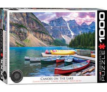 Eurographic Puzzle 1000pc Canoes on the Lake