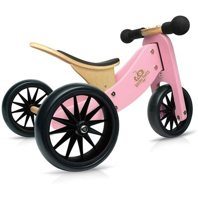 Kinderfeets Tiny Tots Convertible Balance Bike Pink