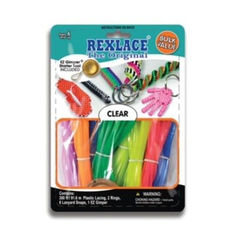 Rexlace Vinyl Lacing Bulk Clear Colours
