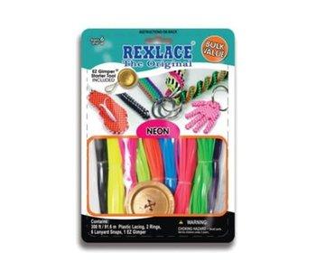 Rexlace Vinyl Lacing Bulk Neon Colours