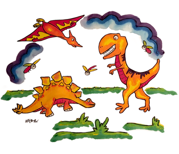 Paint Your OwnPillowcase Dinosaurs