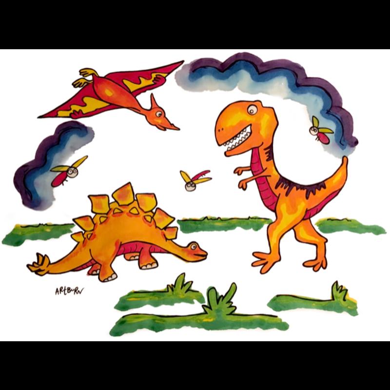 Artburn Paint Your OwnPillowcase Dinosaurs