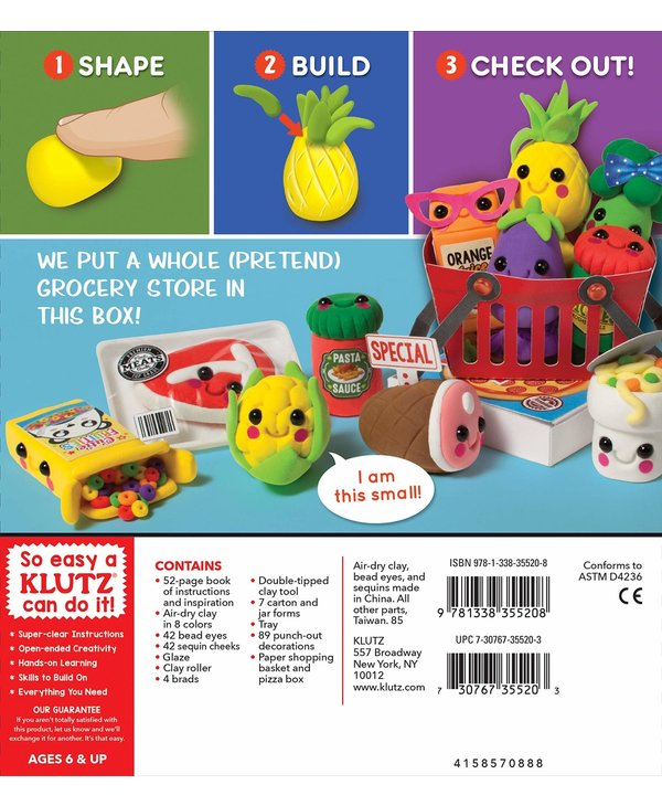 Klutz Book Mini Clay Grocery Store