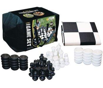 Slackers Jumbo Chess 2 in 1 Chess/Checkers