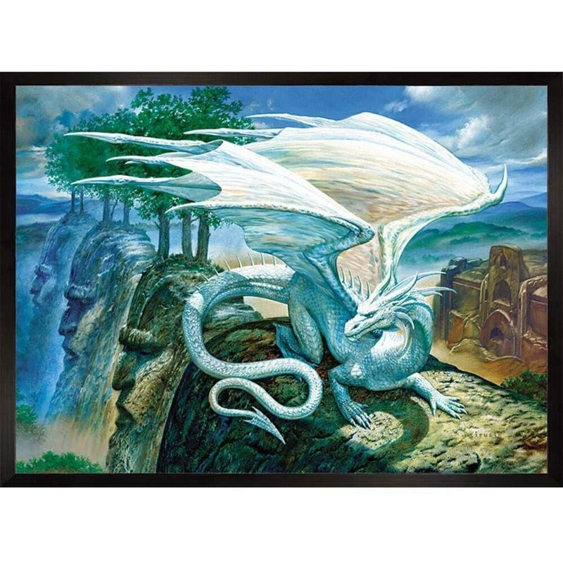 Cobble Hill Puzzles Cobble Hill Puzzle 500pc White Dragon