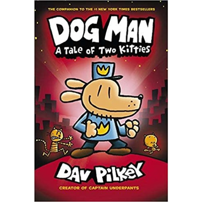 Scholastic Dog Man #3 Pilkey Tale of Two Kitties