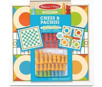 Melissa & Doug Board Game Chess & Pachisi