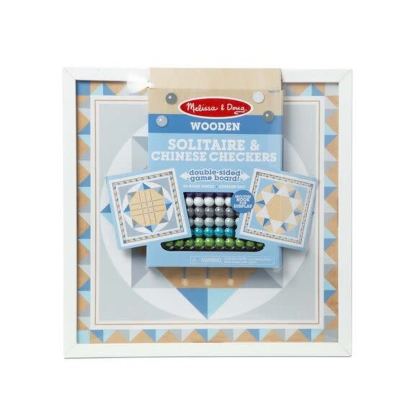 Melissa & Doug Melissa & Doug Board Game Solitaire & Chinese Checkers Blue