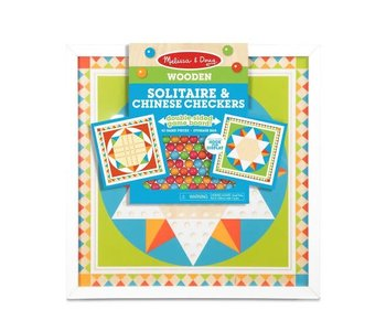 Melissa & Doug Board Game Solitaire & Chinese Checkers