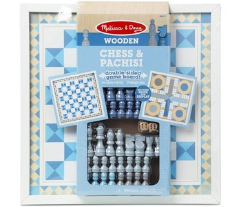 Melissa & Doug Board Game Chess & Pachisi Blue