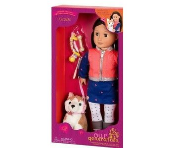 """Our Generation 18"""" Deluxe Doll: Pet Collection Leslie"""