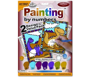 Paint by Number My First Dinosaurs & Volcano