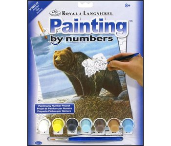 Paint by Number Grizzly Bear