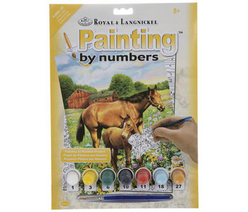 Paint by Number Horse in Field