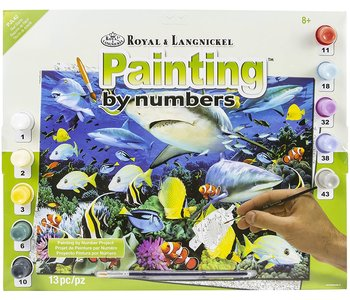 Paint by Number Large Reef Sharks
