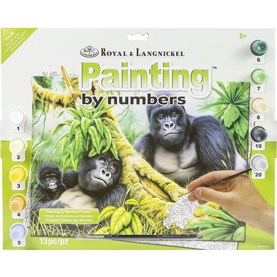 Paint by Number Large Mountain Gorillas