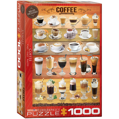Eurographics Eurographic Puzzle 1000pc Coffee