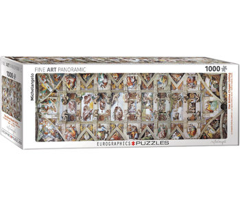 Eurographic Puzzle 1000pc Panoramic The Sistine Chapel