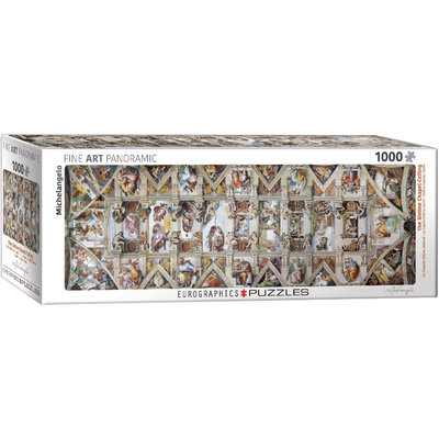 Eurographics Eurographic Puzzle 1000pc Panoramic The Sistine Chapel