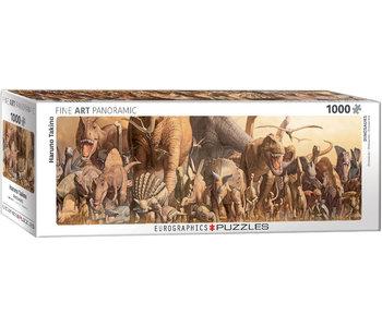 Eurographic Puzzle 1000pc Panoramic Dinosaurs