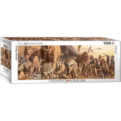 Eurographics Eurographic Puzzle 1000pc Panoramic Dinosaurs