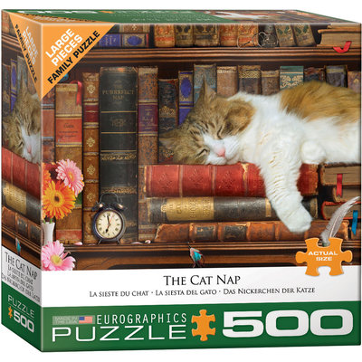 Eurographics Eurographic Puzzle 500pc The Cat Nap