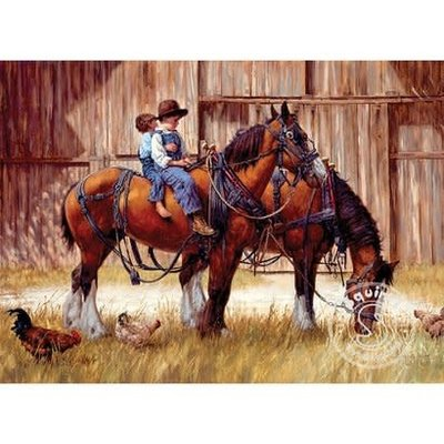 Cobble Hill Puzzle 1000pc Back to the Barn