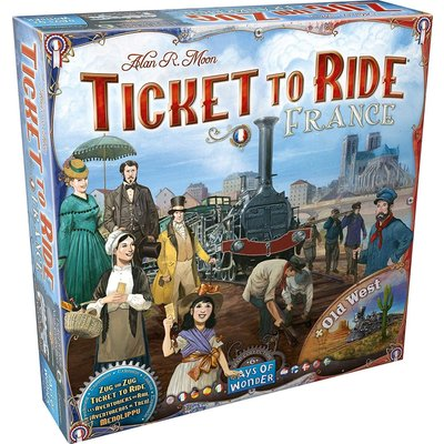 Days of Wonder Ticket to Ride Game Expansion: France/Old West
