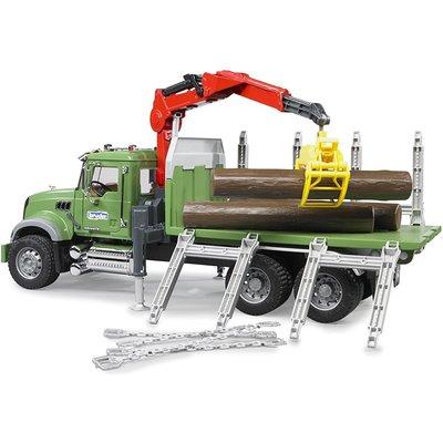 Bruder Mack Timber Truck with Crane