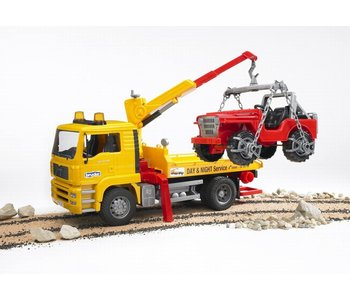 Bruder MAN Tow Truck with Jeep