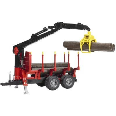 Bruder Bruder Forestry Trailer with Crane & 4 Trucks
