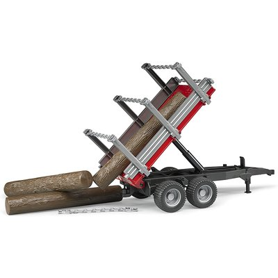 Bruder Bruder Timber Trailer with 3 Trunks