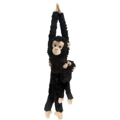Wild Republic Wild Republic Hanging Monkey & Baby: Chimp
