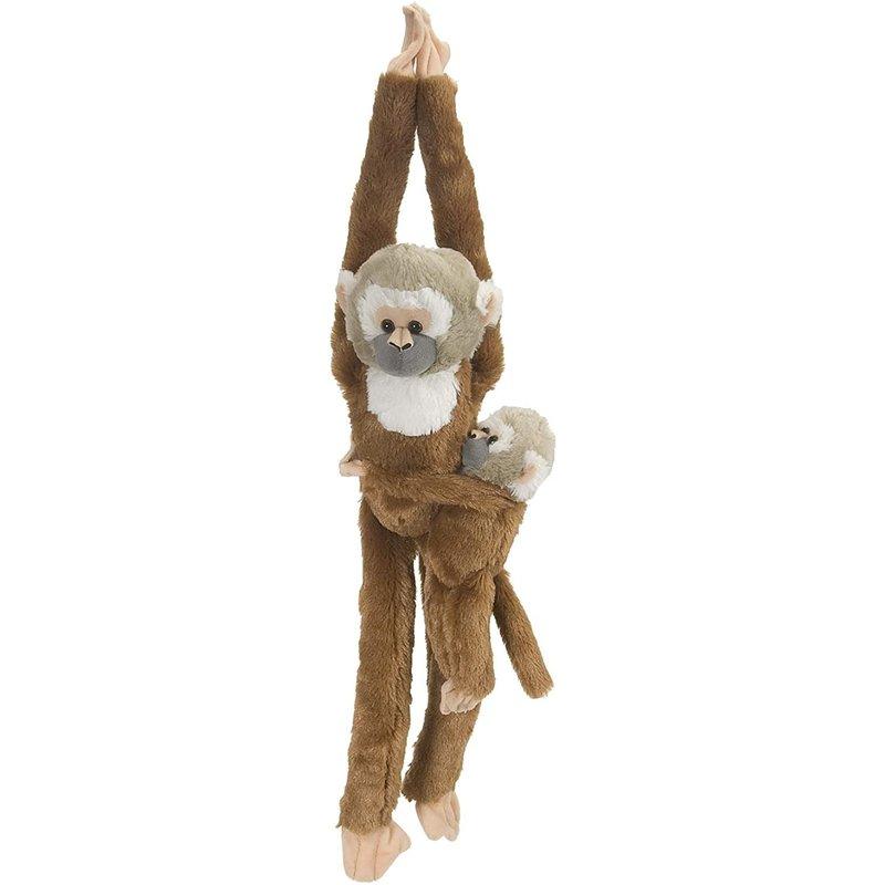 Wild Republic Wild Republic Hanging Monkey & Baby: Squirrel Monkey