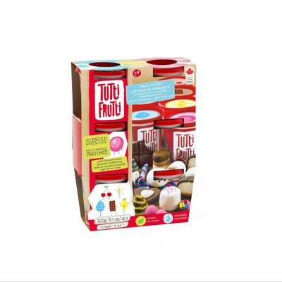 Tutti Fruitti Modelling Dough 6 pack Candy Scents