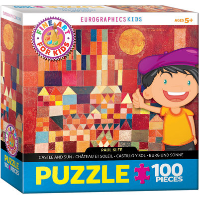 Eurographic Puzzle 100pc Klee Castle and Sun