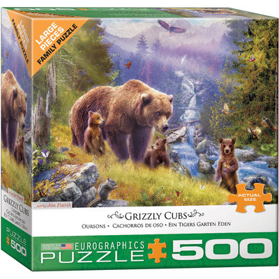 Eurographics Eurographic Puzzle 500pc Grizzly Cubs