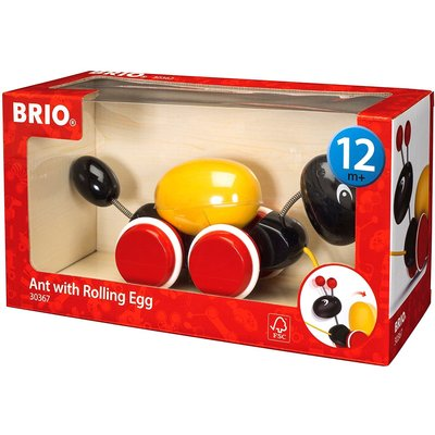 Brio Brio Baby Pull Along Ant with Rolling Egg