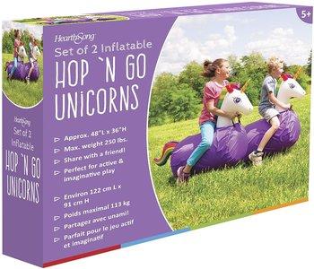 Hearth Song Hop 'N Go Inflatables Unicorns