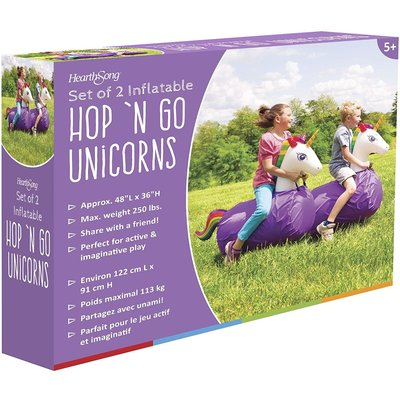 Hearth Song Hop 'N Go Inflatables Unicorns