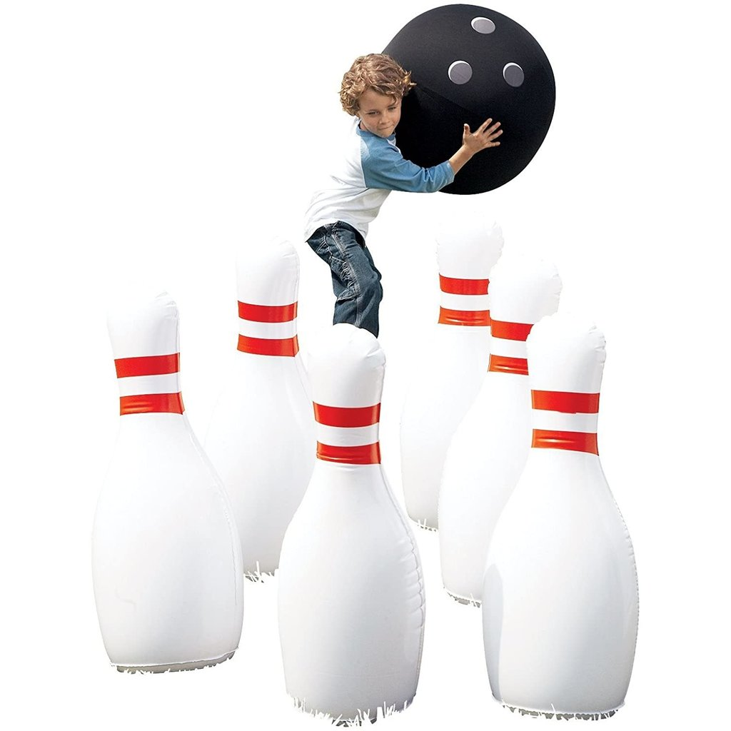 Hearth Song Giant Inflatable Bowling Game