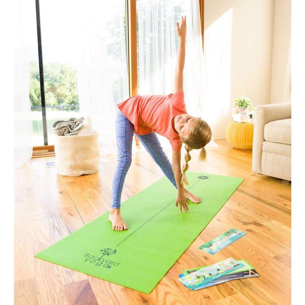 Hearth Song Backyard Yoga Mat & Mini Flow Cards