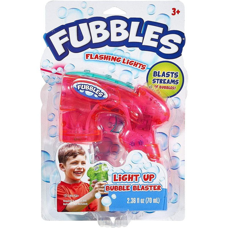 Little Kids Fubbles Bubbles Light-UP Bubble Blaster