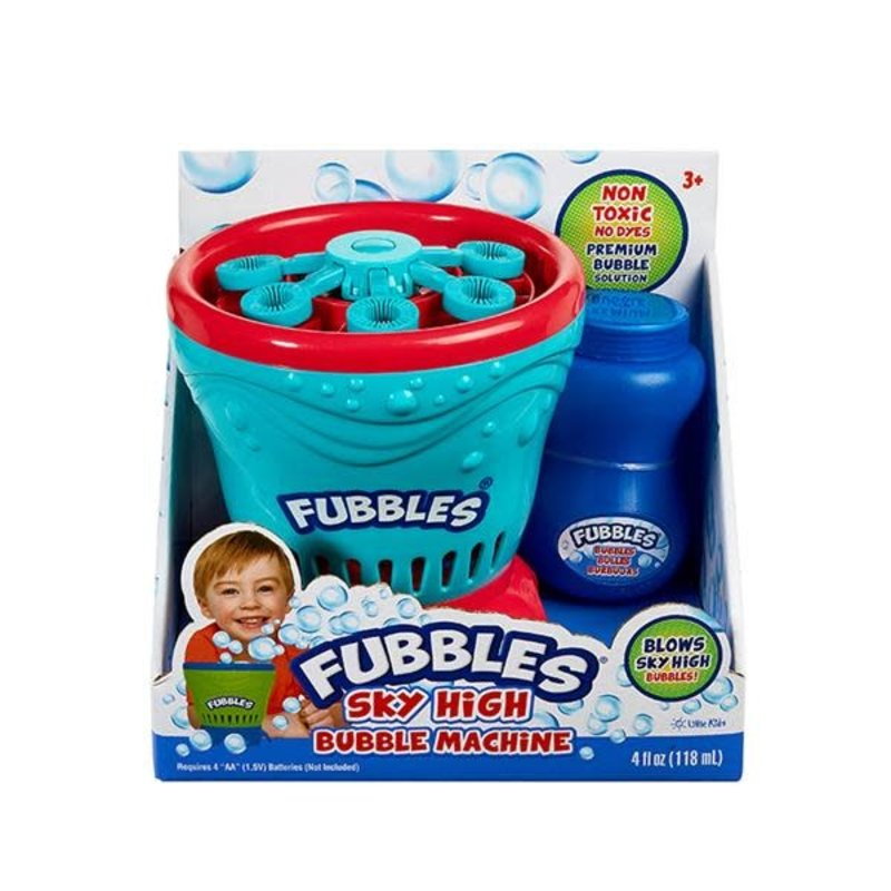 Little Kids Fubbles Bubbles Sky High Bubble Machine
