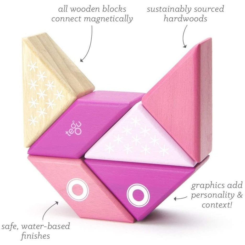 Tegu Tegu Magnetic Wooden Blocks Travel Pals Kitty