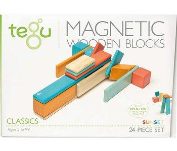 Tegu Magnetic Wooden Block 24pc Sunset