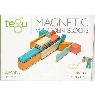 Tegu Tegu Magnetic Wooden Block 24pc Sunset