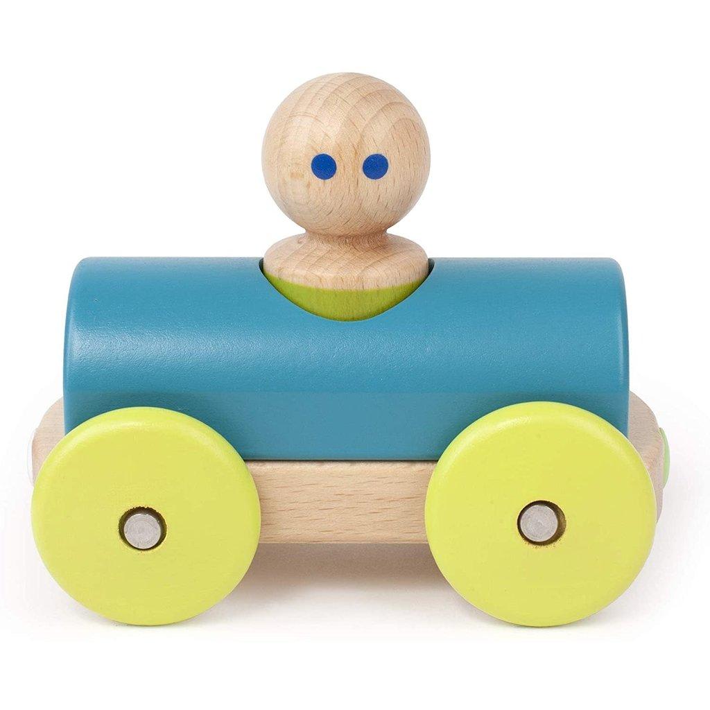 Tegu Tegu Magnetic Wooden Blocks Baby Teal Racer