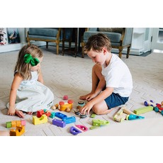 Tegu Tegu Magnetic Wooden Blocks Baby Poppy Racer